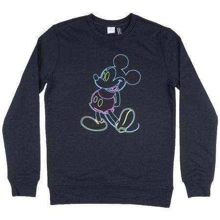 02058efd3 Disney - Disney Mickey Mouse Crewneck Sweatshirt Pullover Disneyland Mens -  Walmart.com