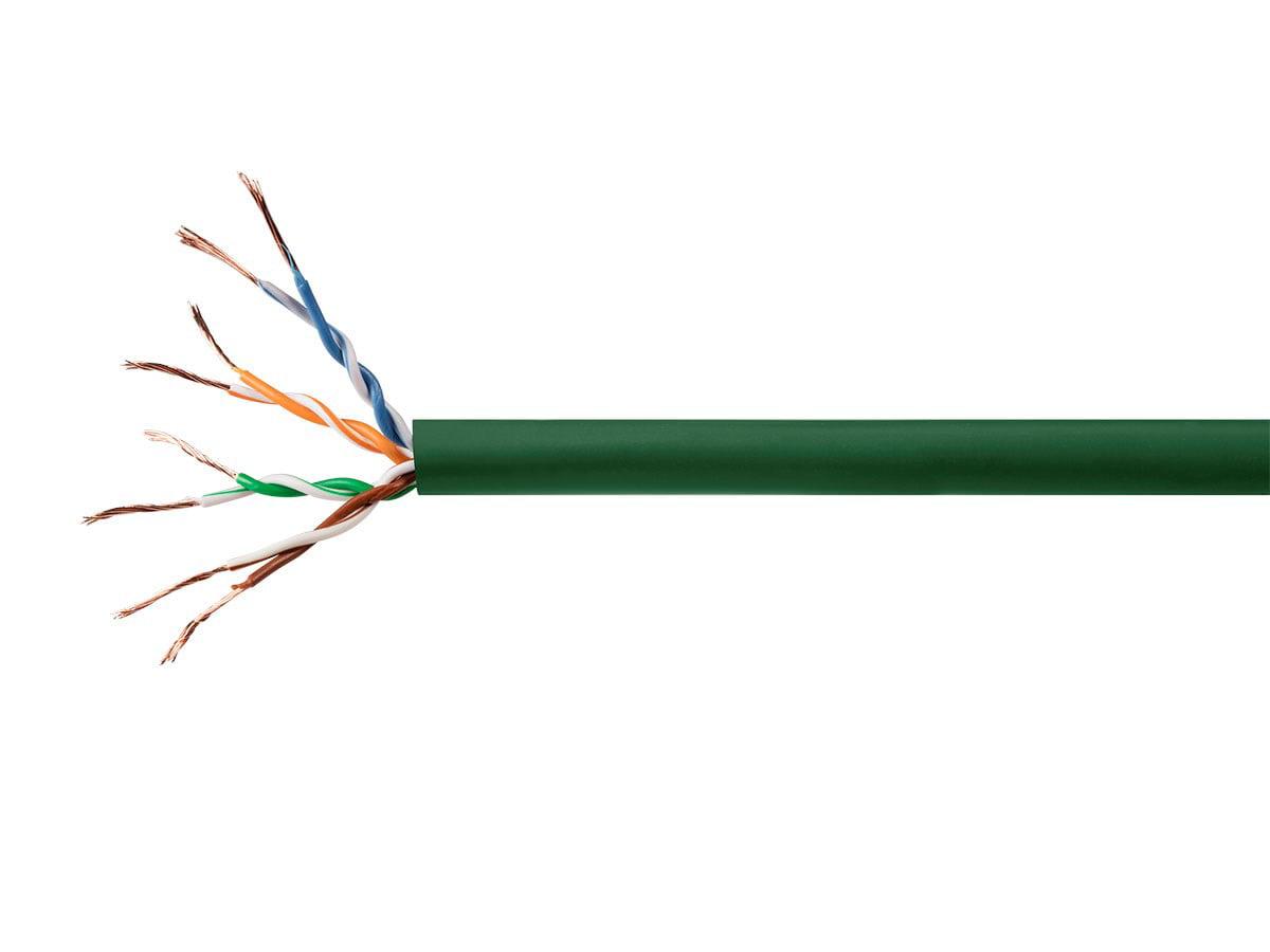 Cat6 Ethernet Bulk Cable Network Internet Cord Stranded UTP CM 24AWG 500ft Blue
