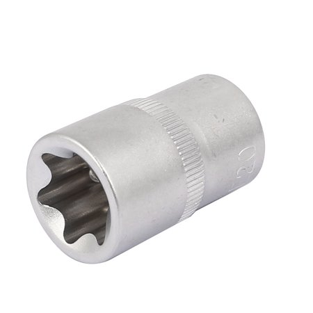 "1/2"" Square Drive 20mm 6 Point Metric Axle Nut E-Torx Socket Silver Tone - image 1 of 1"