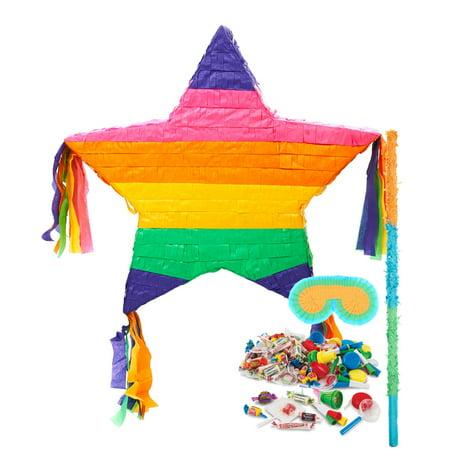 Rainbow Star Pinata Kit - Star Pinata