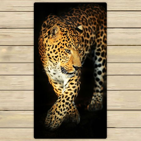 - PHFZK Wildlife Towel, Nature Series of Animal Leopard Hand Towel Bath Bathroom Shower Towels Beach Towel 30x56 inches