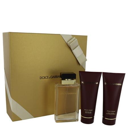Women Gift Set -- 3.4 oz Eau De Parfum Spray + 3.4 oz Shower Gel + 3.4 oz Body Lotion Dolce & Gabbana