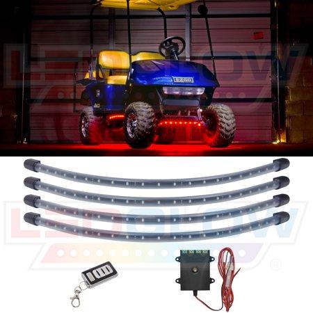 LEDGlow Red LED Golf Cart Underbody Underglow Light - Golf Cart Light