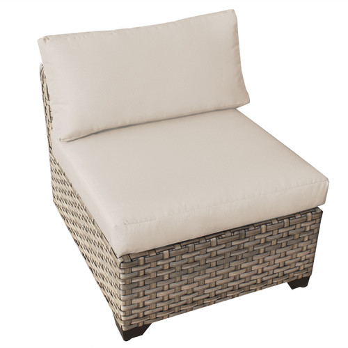 TK Classics Monterey Armless Sectional Chair with Cushions
