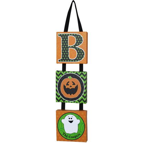"""Personalized """"BOO"""" Hanging Canvas"""