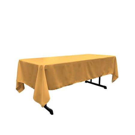 LA Linen TCpop60x144-GoldP14 Polyester Poplin Rectangular Tablecloth, Gold - 60 x 144 in. - image 1 of 1