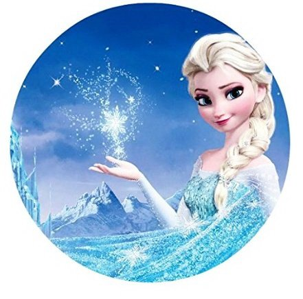 Frozen Elsa Anna Edible Image Photo Cake Topper Sheet Birthday Party - 8 Inches Round - 77830