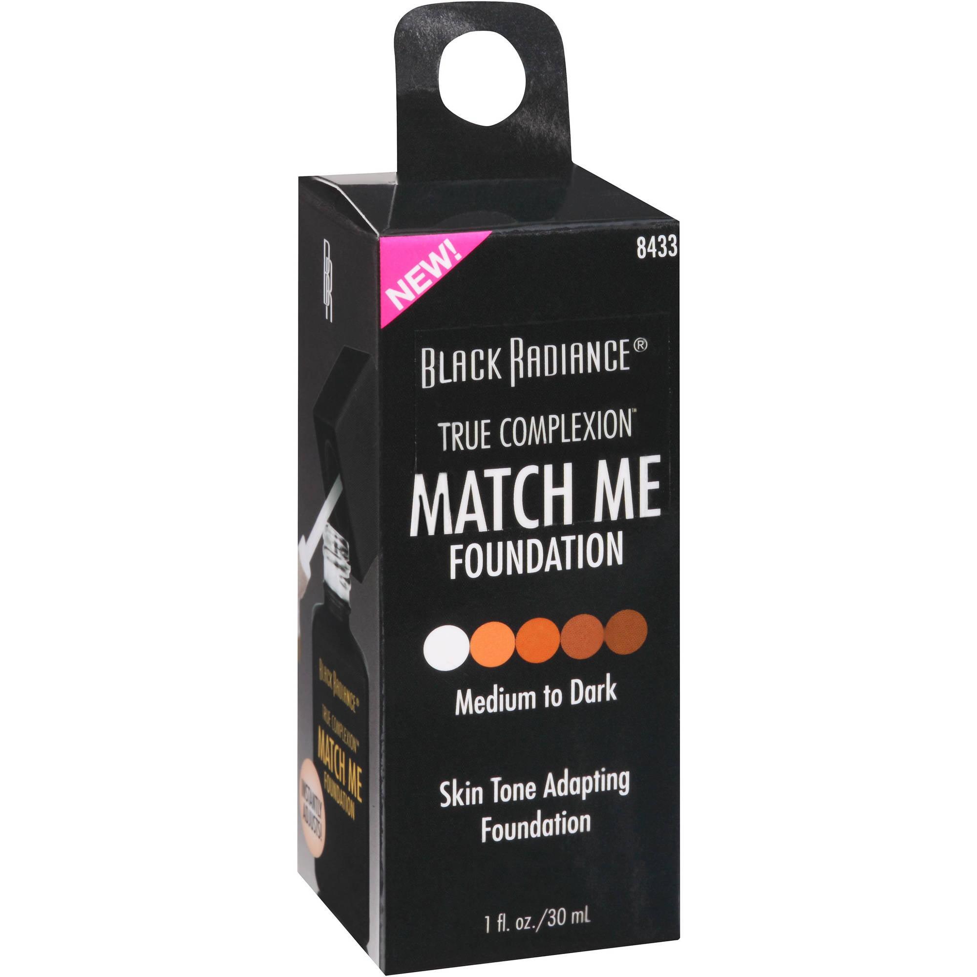 Black Radiance True Complexion Match Me Foundation, 8433 Medium to Dark, 1 fl oz