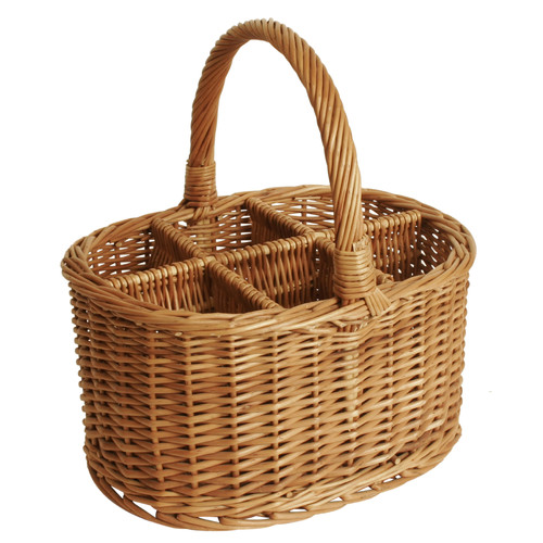 WaldImports Willow Wine Basket
