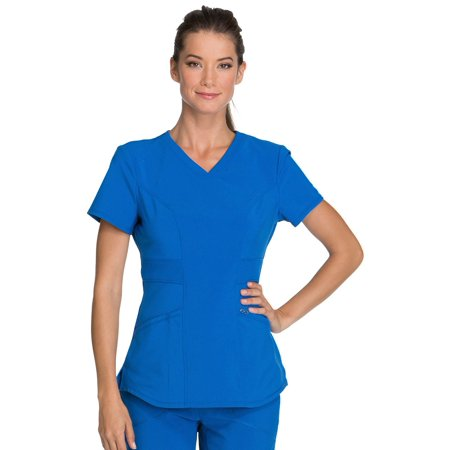 Infinity by Cherokee Women's V-Neck Solid Scrub Top (Cherokee Scrub Top Women)