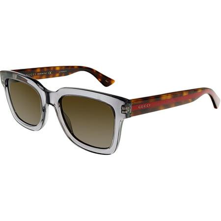 Gucci GG0001S-005-5 Grey Square Sunglasses