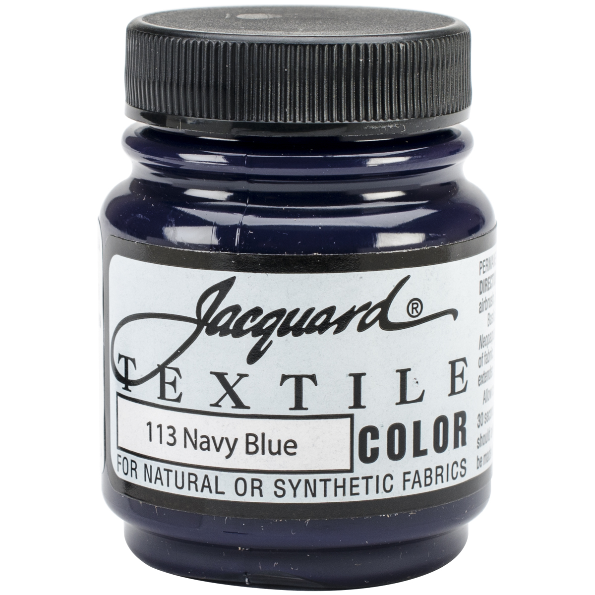 Jacquard Products Jacquard Textile Color Fabric Paint, 2.25-Ounce, Navy Blue Multi-Colored