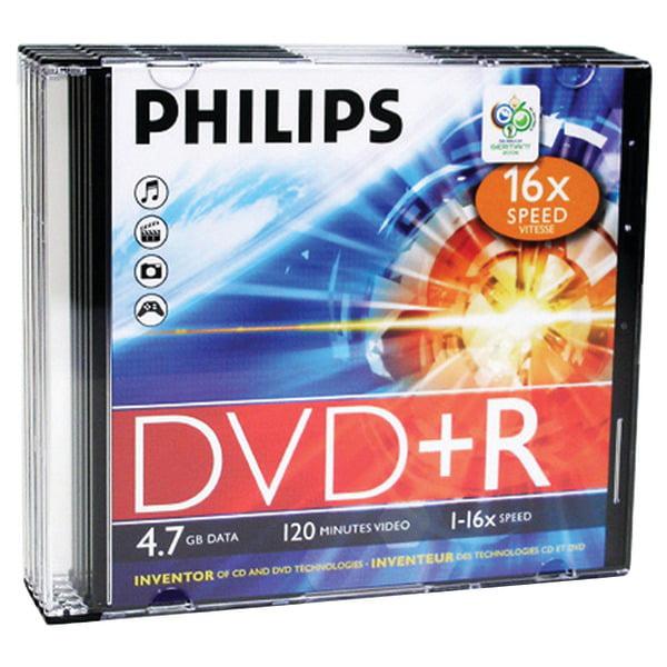 Brand New 4.7GB DVD+R SLIM CASE 5PK