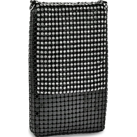 new product 256d8 3d175 Black Mesh Cell Phone Purse w/Chain (7.5x3.5mm)