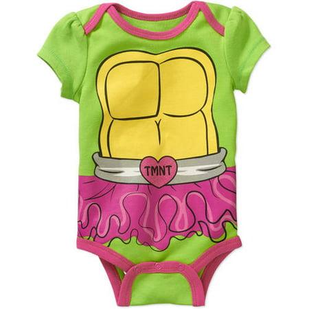 Teenage Mutant Ninja Turtles Newborn Baby Girls' Bodysuit