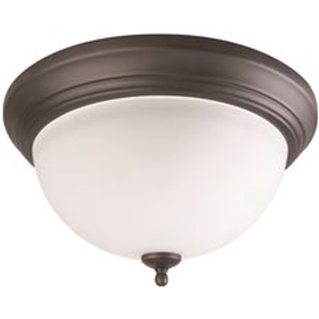 Collection Grecian Bronze Flush (Sonoma 2-Light Flush Mount Ceiling Fixture, Frosted Glass, 15-1/2 X 7-1/2 In., Oil Rubbed)