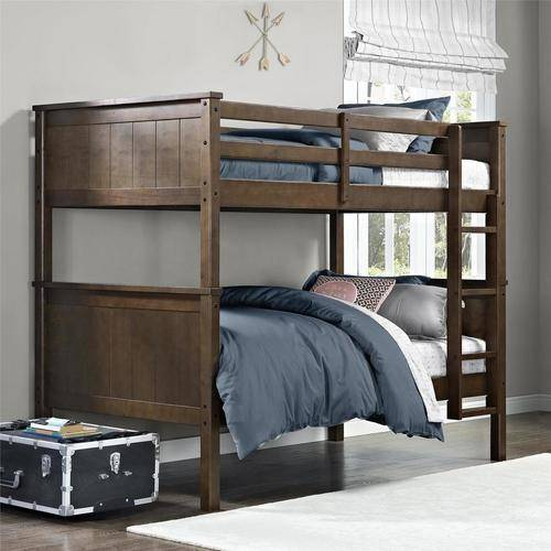 Better Homes and Gardens Ashcreek Twin Bunk Bed, Mocha