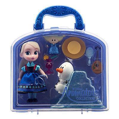 Disney Frozen Elsa Animator's Collection 7 Pieces Mini Doll Set New - Frozen Center Pieces