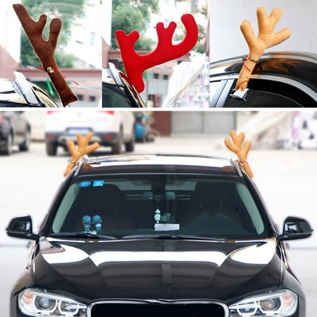 Moderna 1Pair Reindeer Christmas Decor Car Vehicle Horn Costume Rudolf Antlers - Reindeer Antlers For Your Car