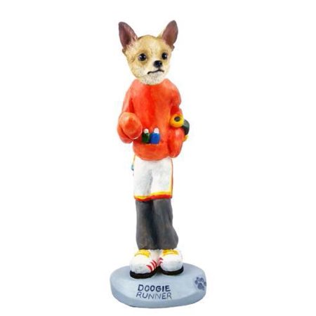 No.Doog06B17 Chihuahua Tan/White Runner Doogie Collectable Figurine