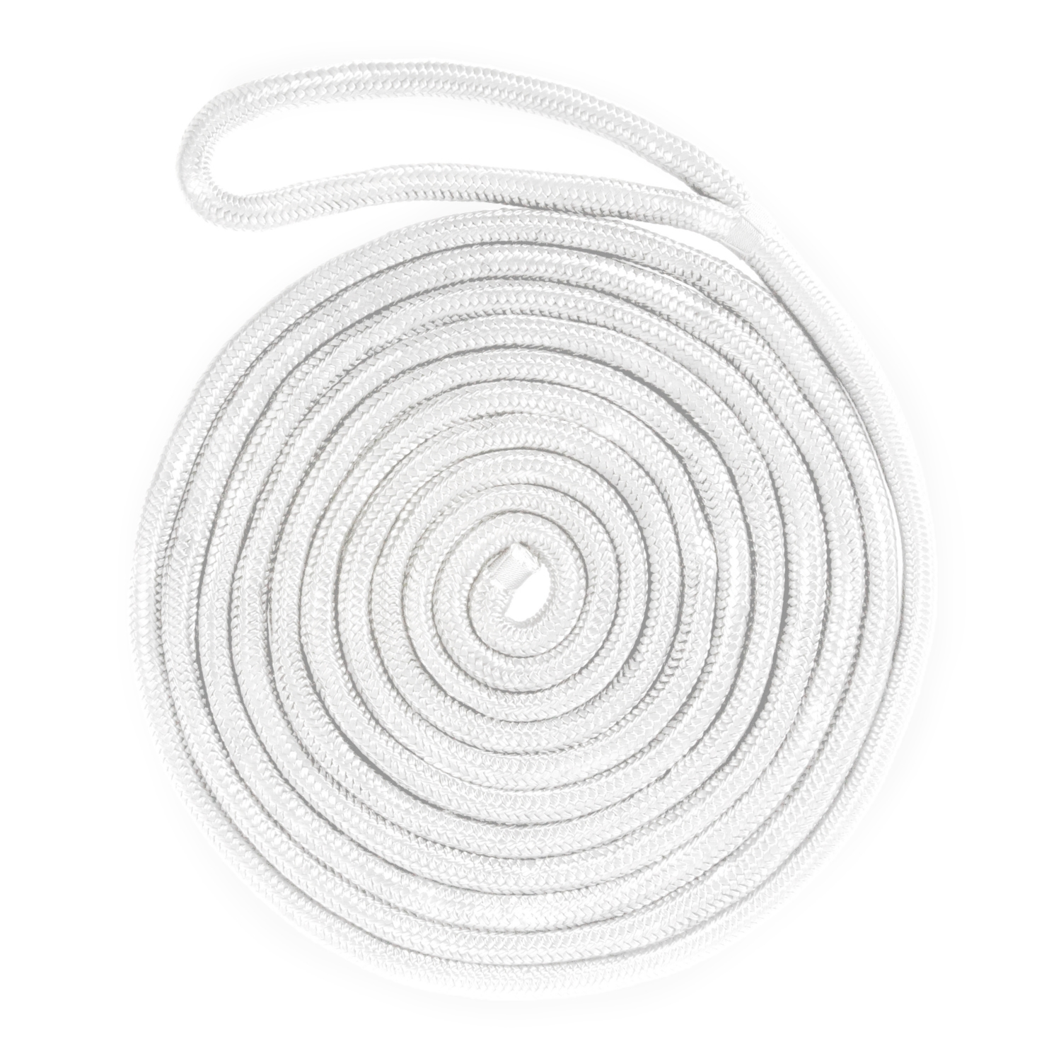 KIMPEX Double Braided Dock Line White #748531 by Kimpex