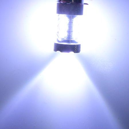Unique Bargains2Pcs H8 White 2828 SMD 16 LEDs Projector Lens Fog Headlight Bulb for Car - image 1 de 2