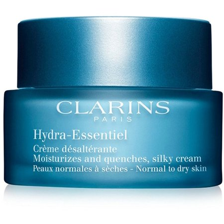 Clarins Hydra-Essentiel Moisturizes and Quenches Silky Cream, Normal To Dry Skin 1.7 oz
