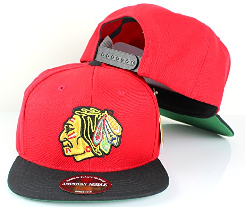 8be84459106 ... snapback hat nhl 15a54 41a04  czech nhl american needle 400 series flat  brim cap adjustable chicago blackhawks red 83e93 0c592
