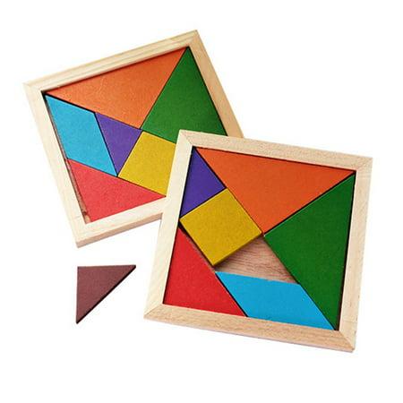 Tangrams For Kids (AkoaDa New Hot Sale Children Mental Development Tangram Wooden Jigsaw Puzzle Educational Toys For)