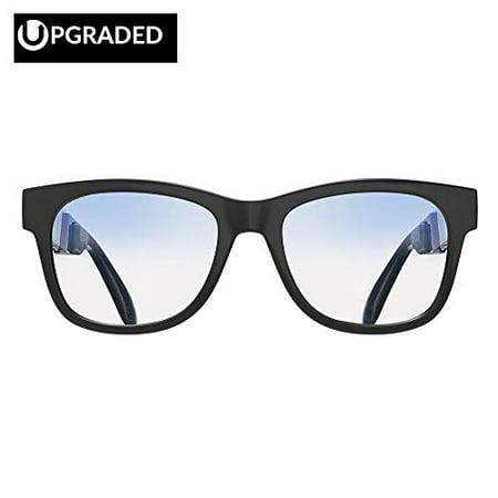 [Upgraded Version] Alien 5 Bone Conduction Glasses Bluetooth 4.1 Headphones Polarized Sunglasses Myopia Waterproof Wireless H](Alien Sunglasses)