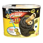 As Seen on Tv Pocket Hose Top Brass Bullet II Retractable Kink Free Garden Hose, 50ft