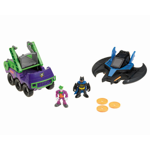 Fisher-Price Imaginext Batwing and Joker's Hauler Play Set