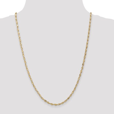 14K Yellow Gold 2.5mm Marquise Chain 18 Inch - image 2 of 5