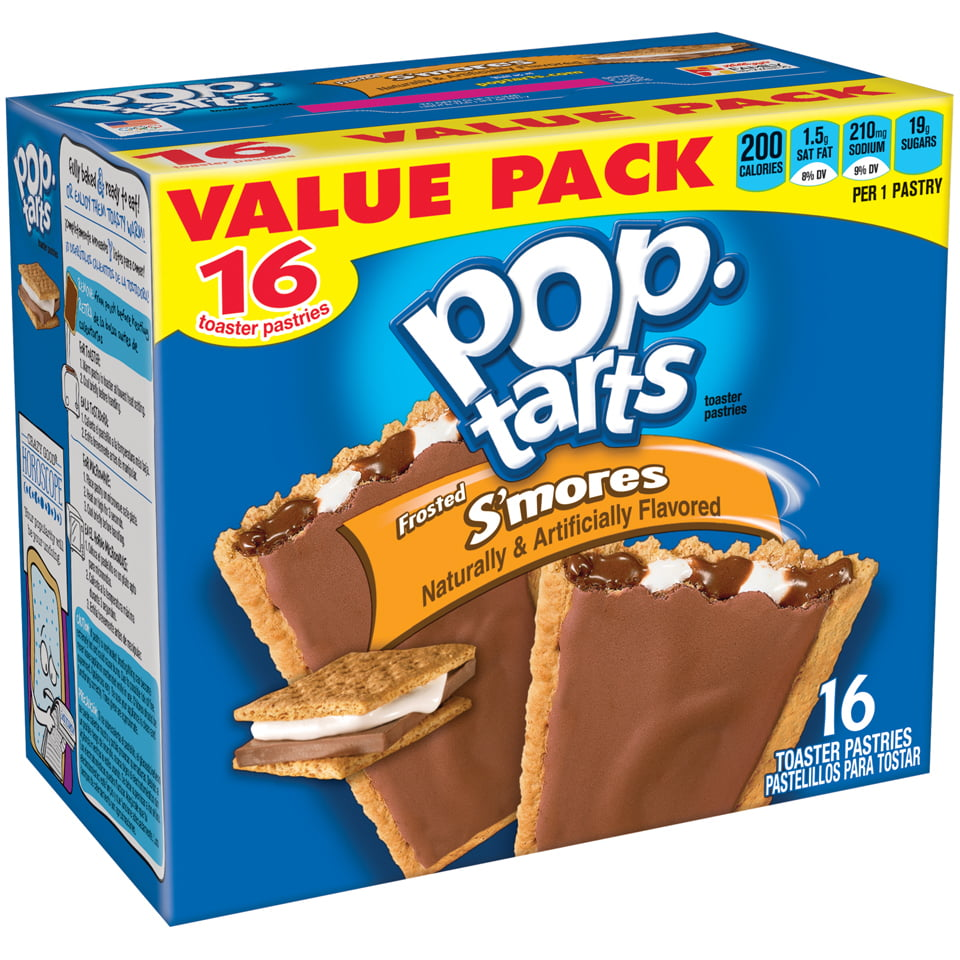 Kelloggs Pop Tarts Frosted Smores Flavored 293 Oz 16 Ct