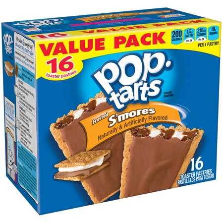 - (8 Pack) Kellogg's Pop-Tarts Breakfast Toaster Pastries, Frosted S'mores Flavored, Value Pack, 29.3 oz 16 Ct