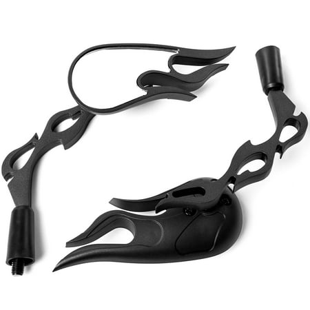 Flame Custom Black Motorcycle Rear View Mirrors For Honda Helix Gyro Express 50 250 - image 3 of 3