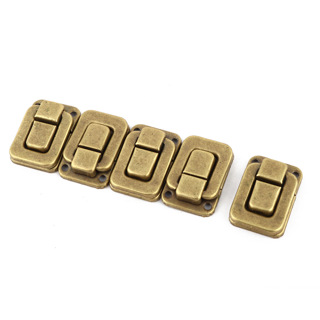 Household Metal Suitcase Lock Hook Hinge Toggle Box Latch Hasp Brass Tone 5 Pcs - image 4 of 4