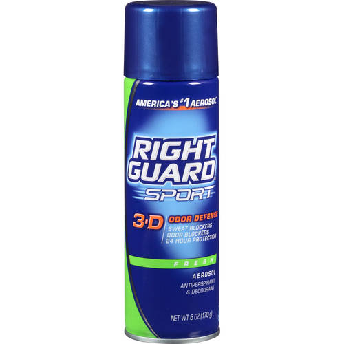 Right Guard Sport Antiperspirant Deodorant Aerosol Spray, Fresh, 6 Oz