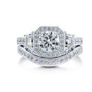 Juliana Engagement Wedding Band Ring Set - Ginger Lyne Collection