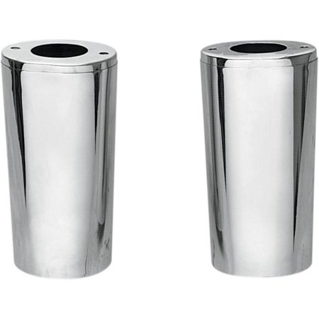 Drag Specialties 0411-0044 Smooth Fork Slider Covers - Stock Length - Gloss Black