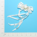 Expo Bridal Satin Rose Bow Ornament Applique