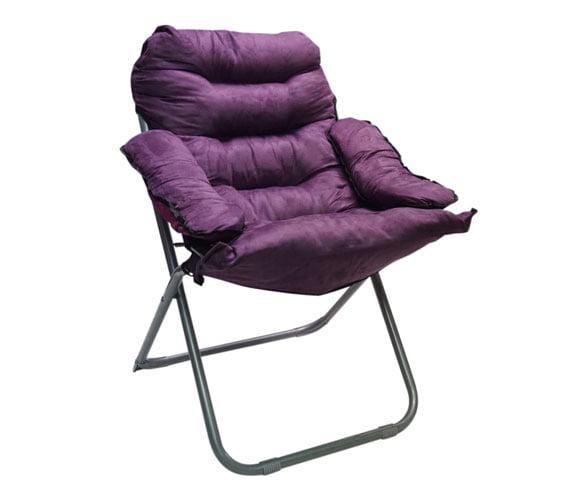 Club Chair Plush & Extra Tall Purple by DormCo
