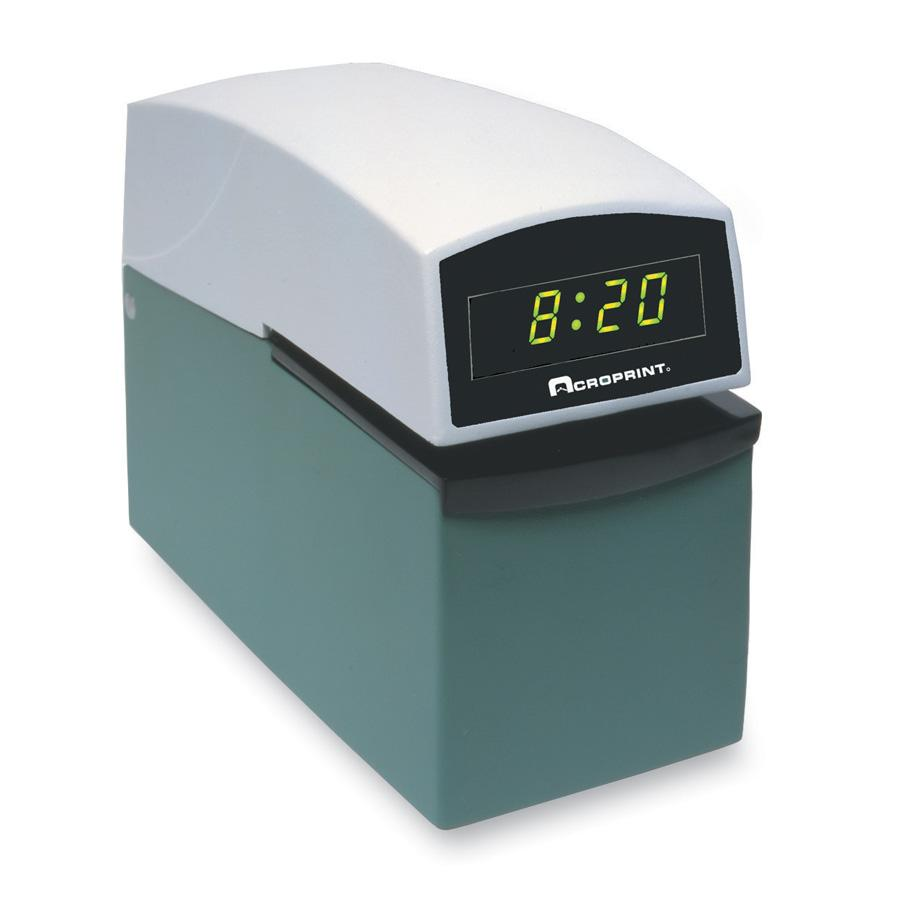 Acroprint ETC Digital Automatic Time Clock with Stamp by Acroprint Time Recorder Company