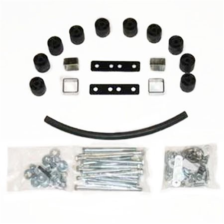 Daystar PA5082 Body Lift Kit; 2 in. Lift; Incl. Front Bumper Brackets; PN[9628] Required For Automatic Transmission;