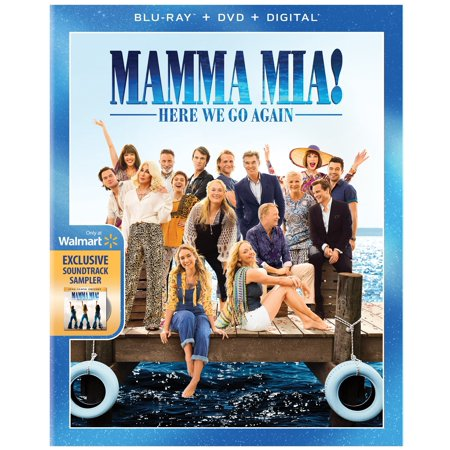 Mamma Mia! Here We Go Again (Walmart Exclusive) (Blu-ray + DVD + Digital + Sample (Difference Between Mia 1 And Mia 2)