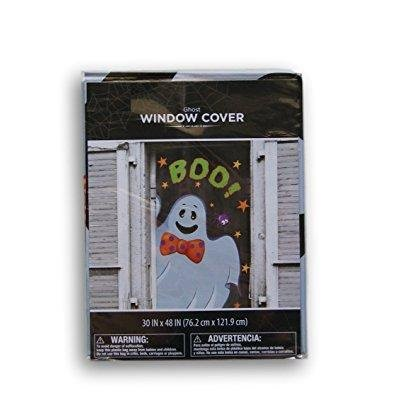Halloween Spooky Ghost Window Cover - 30'' x 48'' - Halloween Retail