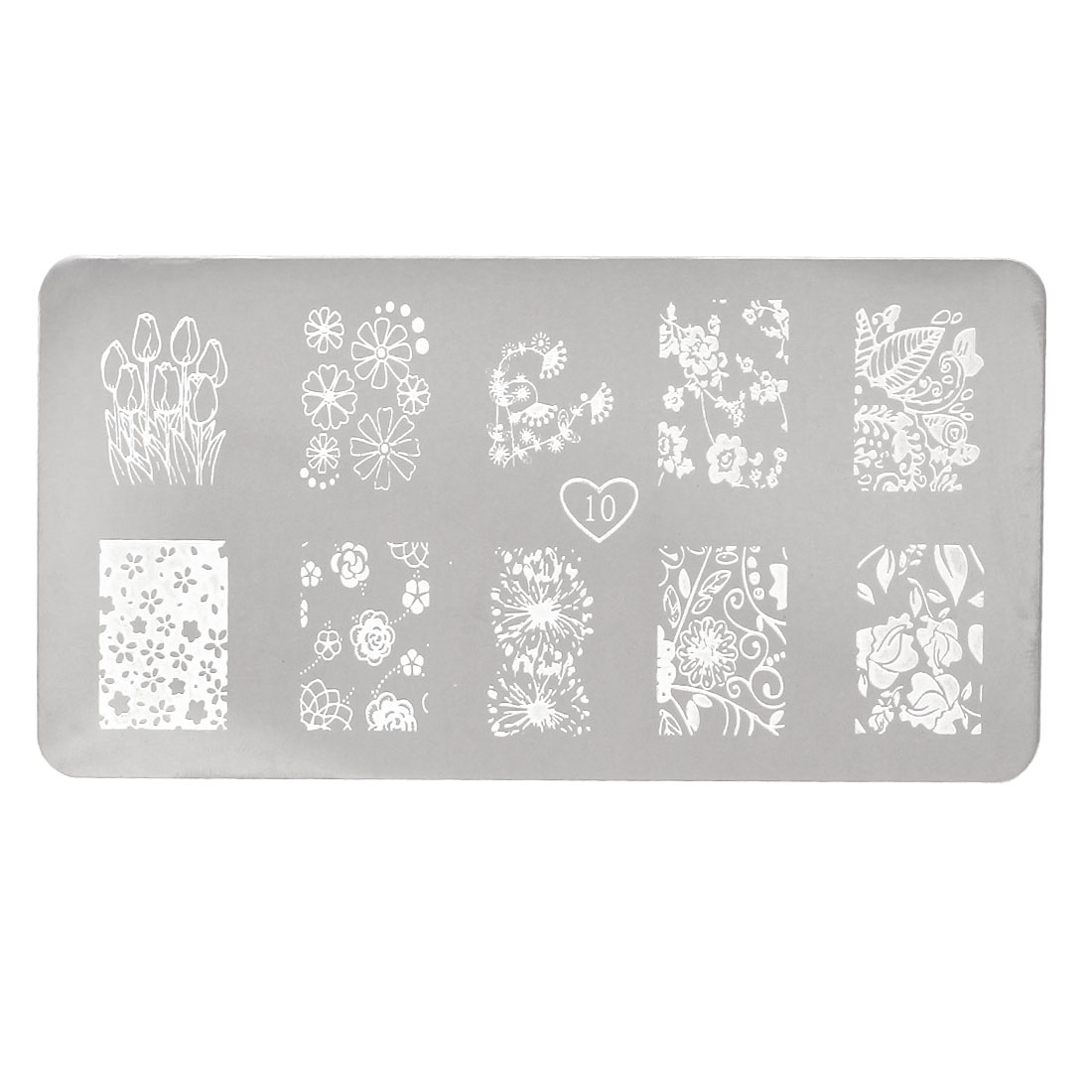 Unique BargainsFingernails Flower Printed Stencil Template Painted Plate Gel Nails Tool 1 Sheet