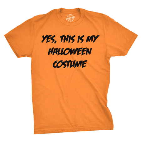 This Is My Halloween Costume T Shirt Funny Fake Parody Text Joke (Halloween Shirts)