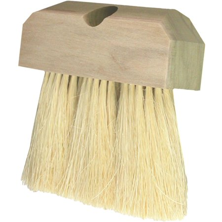Birdwell Cleaning 800-12 Roof Brush, 4 in Trim, White Trim, 3 Rows Hardwood Handle ()