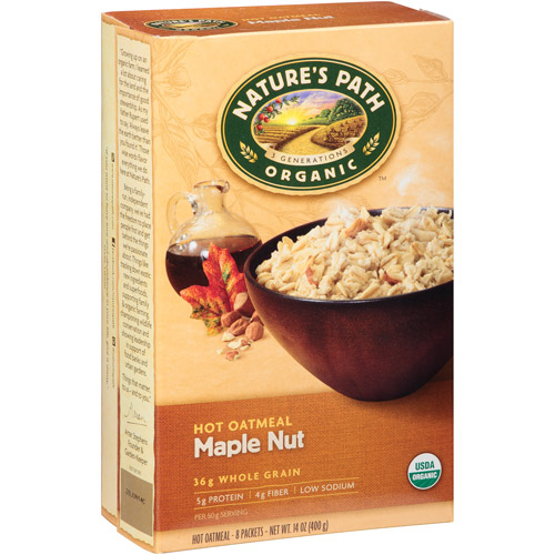 Nature's Path Organic Maple Nut Hot Oatmeal, 14 oz, (Pack of 6)